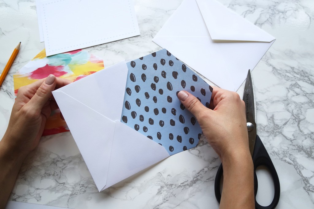 Create your own beautiful envelope liners. Creates a classy and custom look for a fraction of the price!
