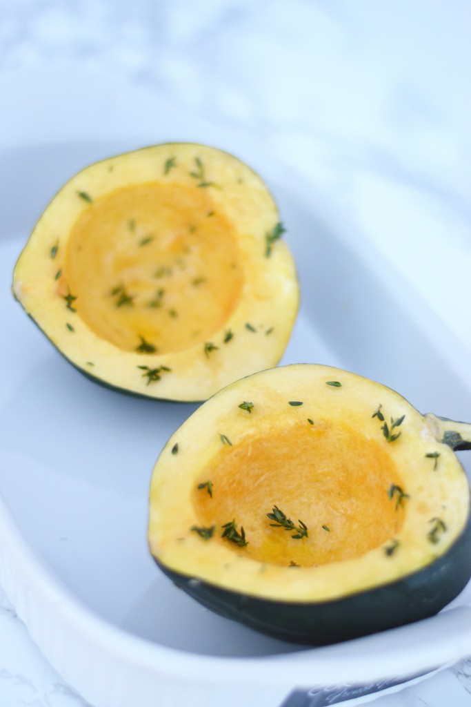 This vegan stuffed acorn squash is a healthy option full of vegetables, whole grains, protein and healthy fats!
