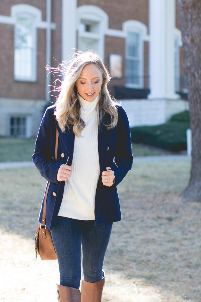 Preppy look for winter