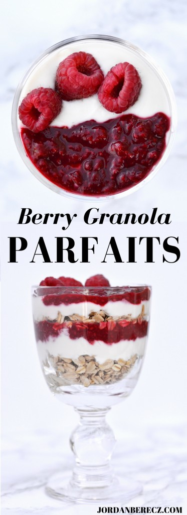 These yogurt parfaits are a healthy and festive breakfast for Christmas morning!