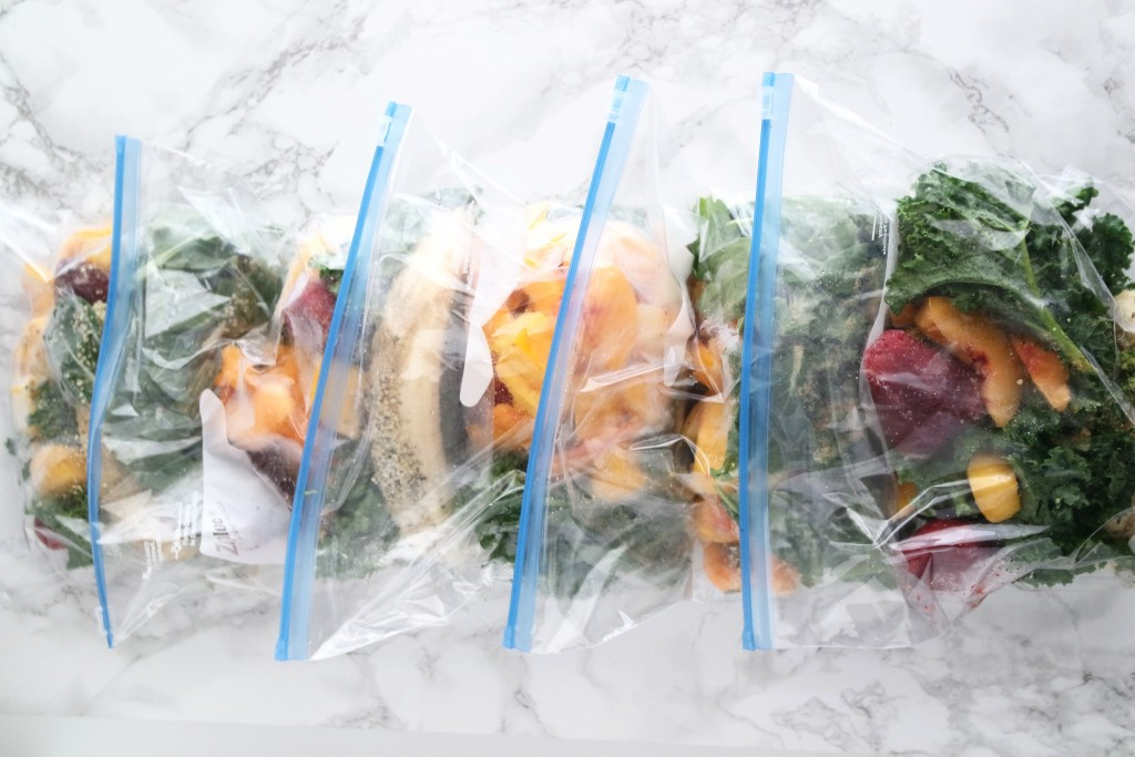 How to food prep smoothie bags