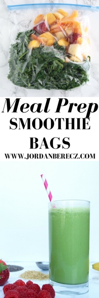 How to meal prep smoothie bags
