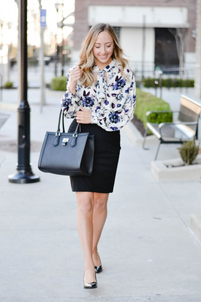 Two ways to wear a pencil skirt