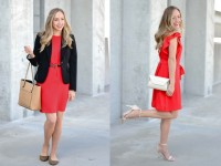 Two ways to wear a little red dress